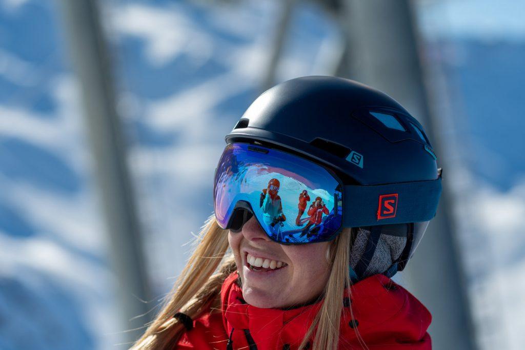 Skieuse sourire